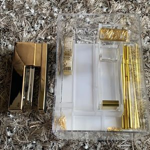 Other - Gold and acrylic office supplies set